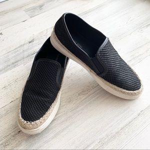 Gianni Bini Leather Espadrille Sneakers 7.5